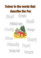 colour the words that describe the fox.docx
