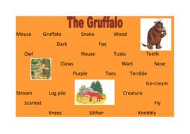 the gruffalo word mat.docx
