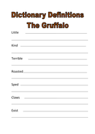 dictionary definitions the gruffalo.docx
