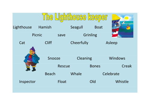 The Lighthouse Keeper Story Sack By Kayld Teaching