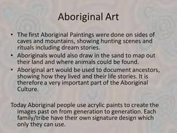 Aboriginal art project 2D/3D