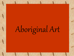 Examples of Aboriginal 'dot' painting