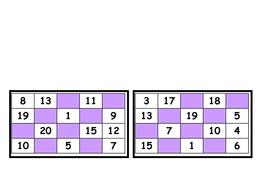 bingo number generator 0-20
