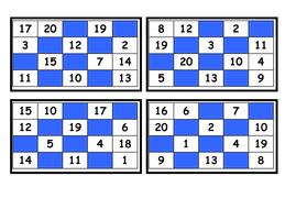 Bingo Cards 1 20 By Norwoodlinda Teaching Resources