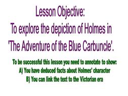 Lesson 2 Blue Carbuncle.ppt
