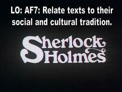 Reading AF7 Depictions of Sherlock Holmes