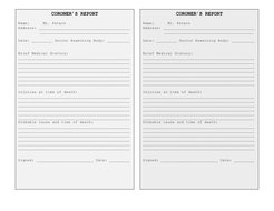 csi mr peters a template for the coroners report