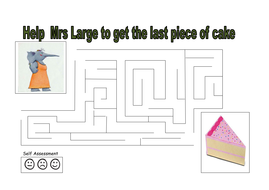 A piece of cake maze
