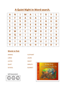 A quiet night in word search