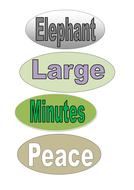 Five minutes peace display words