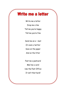 Write me a letter poem by lbrowne teaching resources tes write me a letter poem expocarfo Choice Image