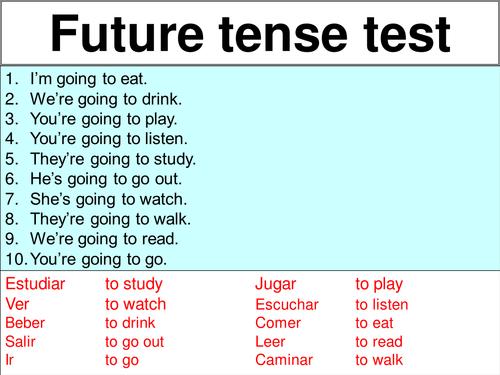 Test on future tense ir a infinitive by rosaespanola – Ir a Infinitive Worksheet