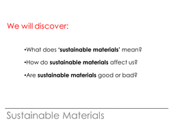 Sustainable Materials by silverstars - Teaching Resources - Tes