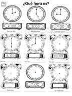 Mi horario by mmullen - Teaching Resources - Tes
