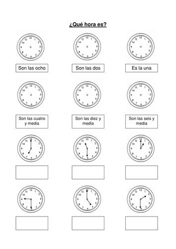Mi horario by mmullen   Teaching Resources   TES