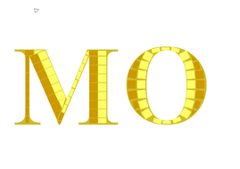 Mosaic lettering for display title
