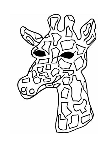 Giraffe Mask Template by bestprimaryteachingresources