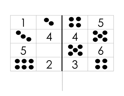 MATCHING DOT PATTERNS TO NUMBER DIGIT By