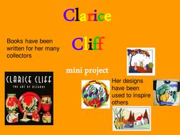 Clarice Cliff Cross-curricular mini project