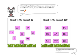 Rodger Rabbit' Rounding Activity by emcnicholl | Teaching Resources