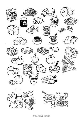 Line Drawing Food : Food line drawings by fiendishlyclever teaching