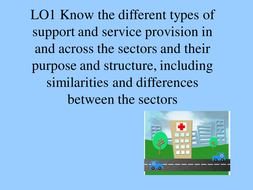 types of support and service provision