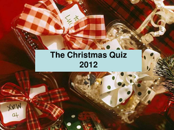 Christmas Quiz for Secondary pupils