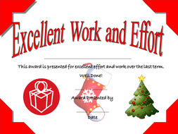 christmas end of term certificates by senteacher86 teaching