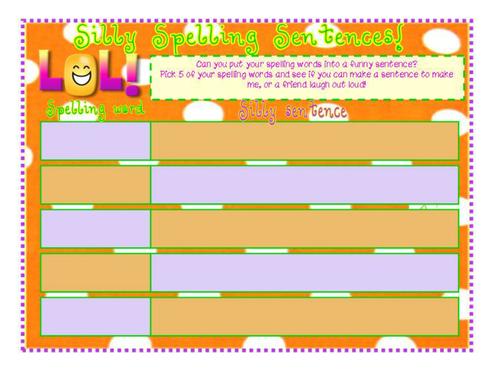 Fun Spelling Worksheets : Make spellings fun loads of activities by sairer
