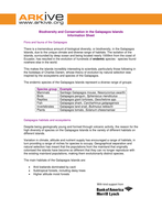 ARKive News - Galapagos conservation - Information sheet.doc