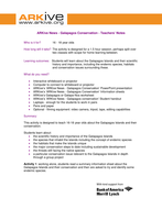 ARKive News - Galapagos conservation - Teachers' notes.doc