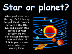 The difference between Stars and Planets