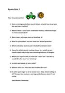 Sports Quiz 2