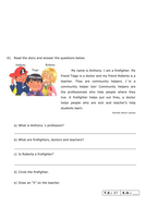 3rd Grade ESL Review aid and test