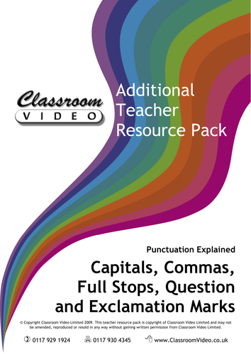 capitals commas fullstops by snowlioness teaching resources tes. Black Bedroom Furniture Sets. Home Design Ideas