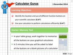 Maths Calculator Skills