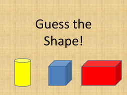 stor försäljning ny ankomst söt billig Guess the 3D shape Quiz | Teaching Resources