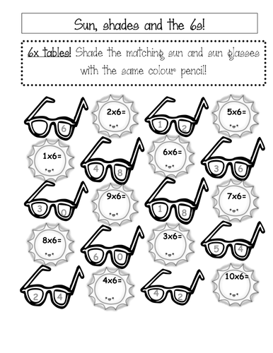 Times table colouring worksheets by sairer teaching for 10x table worksheets