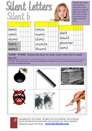 phonics worksheets silent b by coreenburt teaching resources. Black Bedroom Furniture Sets. Home Design Ideas