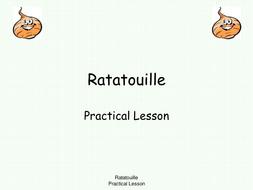 Equipment Method For Making Ratatouille