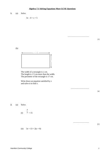 Solving Equations Worksheets by mrbuckton4maths - Teaching ...