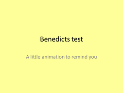Benedicts test animation
