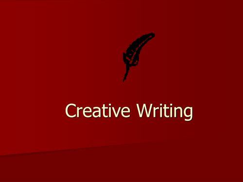 Creative writing ppt
