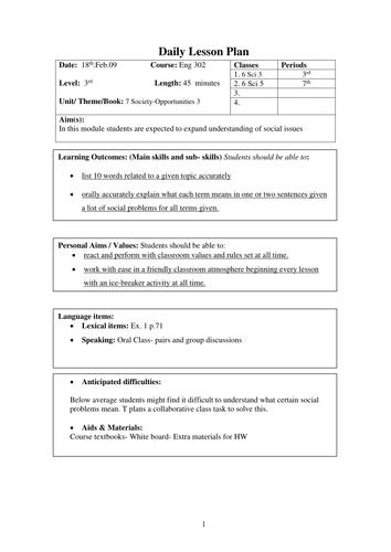 Lesson Plan Template By Jidenglish Teaching Resources Tes - Lesson plan template australia
