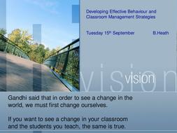 Behaviour for Learning INSET