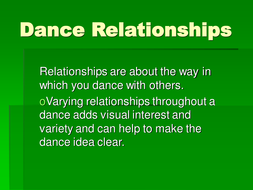 Dance Relationships