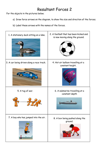 Force diagrams by PinkHelen - Teaching Resources - Tes