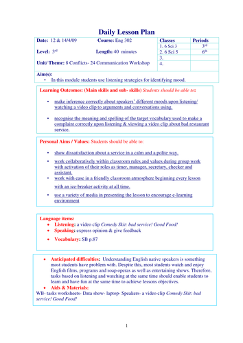 Making complaints lesson by jidenglish teaching resources tes spiritdancerdesigns Images