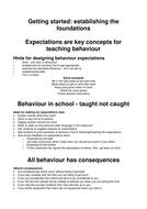 Setting up behaviour basics