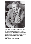 Spike Milligan was born in India in 1918.doc